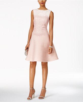 Tadashi Shoji Lace Fit & Flare Dress $368 thestylecure.com