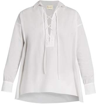 Nili Lotan Shiloh Cotton Poplin Shirt - Womens - White