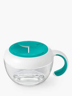 OXO Tot Flippy Snack & Travel Cup, White/Teal