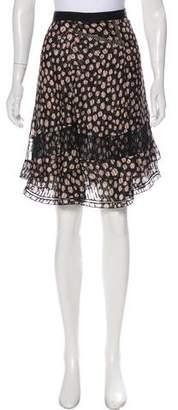 Jason Wu Silk Knee-Length Skirt