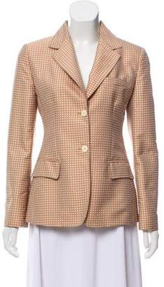 Blumarine Long Sleeve Notch-Lapel Blazer