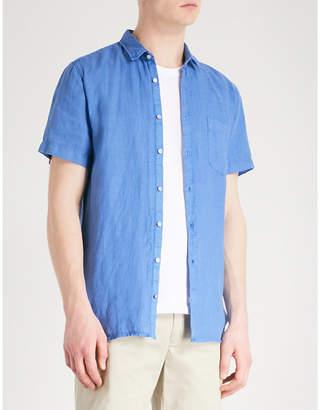BOSS ORANGE Slim-fit linen shirt