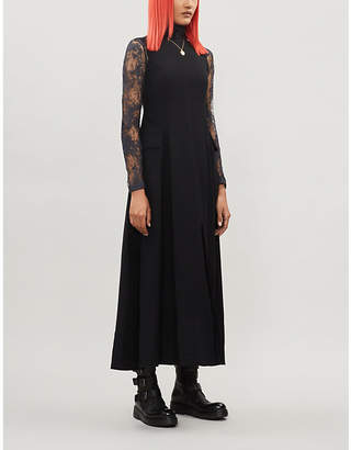 Song For The Mute Raw-edge sleeveless crepe dress