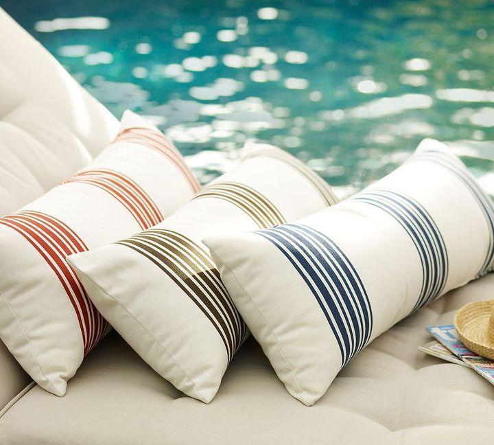 Skipper Stripe Outdoor Pillow