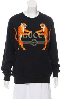 Gucci Distressed Tiger Sweatshirt