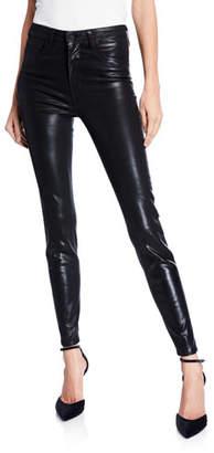 L'Agence Marguerite Coated Modal Denim High-Rise Skinny Jeans