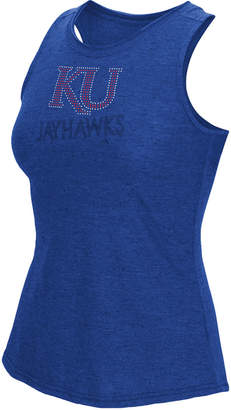 adidas Women's Kansas Jayhawks Rhinestone Repeat Tank Top