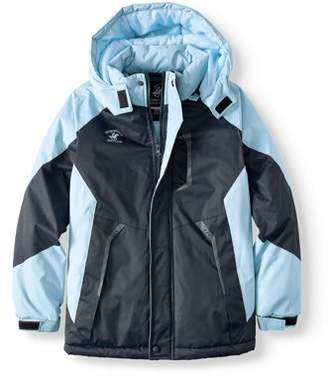 Beverly Hills Polo Club Two Toned Ski Jacket with Removable Hood & Fleece Lining (Big Boy)