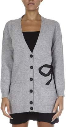 RED Valentino Grey Wool & Viscose Cardigan