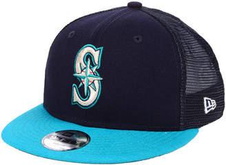New Era Boys' Seattle Mariners All Day Mesh Back 9FIFTY Snapback Cap
