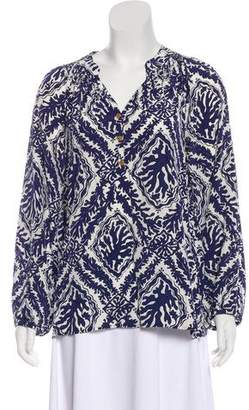 Lilly Pulitzer Silk Printed Blouse