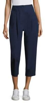 DKNY High-Waist Pleated Pants