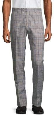 Slim-Fit Plaid Pants
