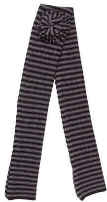 Sonia Rykiel Striped Embellished Scarf
