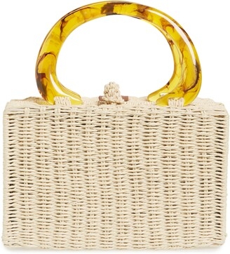 Brixton Avalon Straw Top Handle Bag