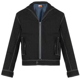 Boramy Viguier - Check Print Cotton Sailor Jacket - Mens - Red
