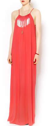 BCBGeneration Fringe Maxi Dress