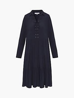 Gerard Darel Gianna Ruffle Hem Dress, Navy