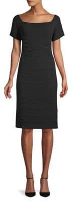 Lafayette 148 New York Ribbed Sheath Dress