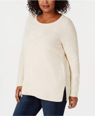 Charter Club Plus Size Tunic Sweater, Created for Macy's