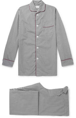 Turnbull & Asser Kingsman + Piped Gingham Cotton Pyjama Set