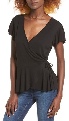 Women's Leith Ruffle Wrap Top $39 thestylecure.com