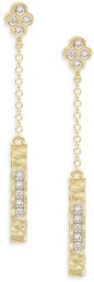 Meira T 14K Yellow Gold & Diamond Linear Earrings