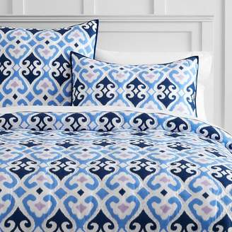 Pottery Barn Teen Gemma Ikat Quilt, Full/Queen, Cool