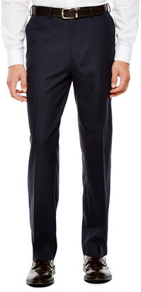 Izod Navy Plaid Suit Pants - Classic Fit