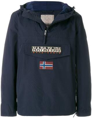 Napapijri logo patch pocket windbreaker