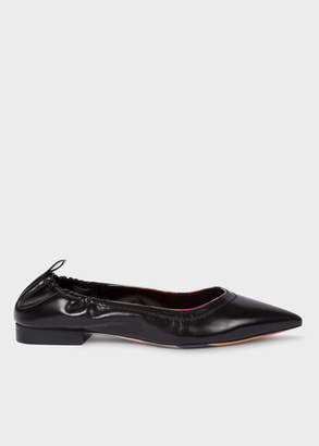 Paul Smith Women's Black 'Lima' Leather Pumps With 'Swirl' Details