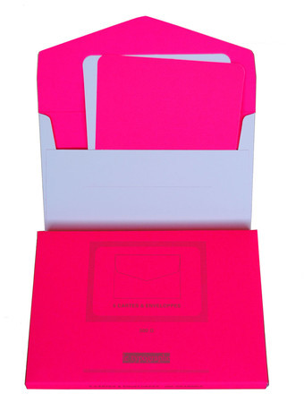 Le Typographe Fluorescent Card Set Pink