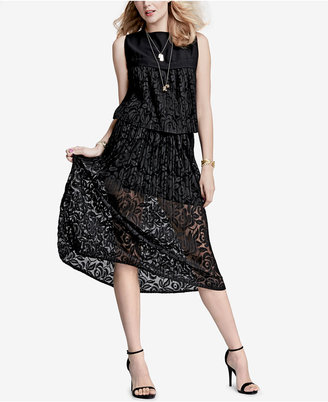 RACHEL Rachel Roy Pleated Lace Midi Skirt, Only at Macy's $119 thestylecure.com