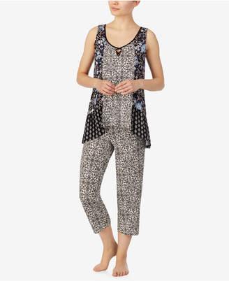 Ellen Tracy Boho Floral Print Tank Pajama Set, Online Only