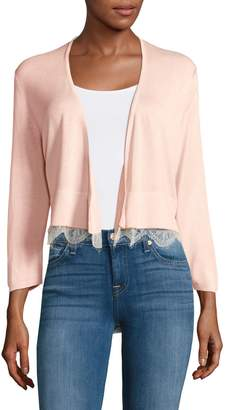 Tommy Hilfiger Open-Front Shrug with Lace Hem