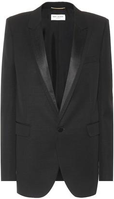 Saint Laurent Virgin wool tuxedo jacket