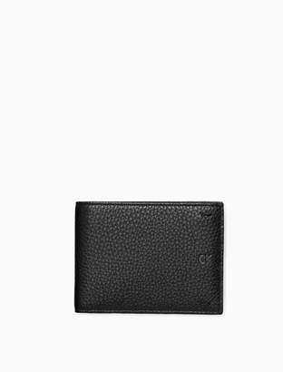 Calvin Klein pebble essentials coin billfold wallet