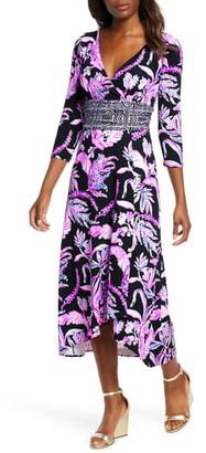 Lilly Pulitzer Fleuris Floral Print Tulip Midi Dress