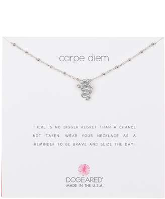 Dogeared Sterling Silver 'Carpe Diem' Beaded Dragon Pendant Necklace