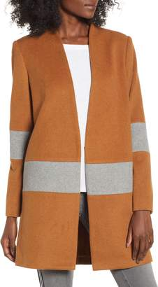 Mural Wool Blend Blanket Coat