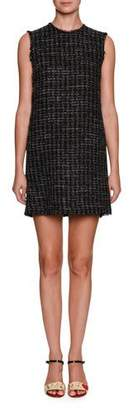 Dolce & Gabbana Sleeveless Crewneck Tweed Mini Dress