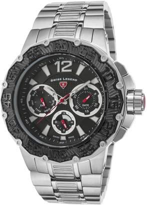 Swiss Legend Men's 14097SM-11-BB Ultrasonic Analog Display Swiss Quartz Silver Watch