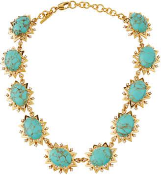 Lele Sadoughi Sunshine Marble Statement Necklace