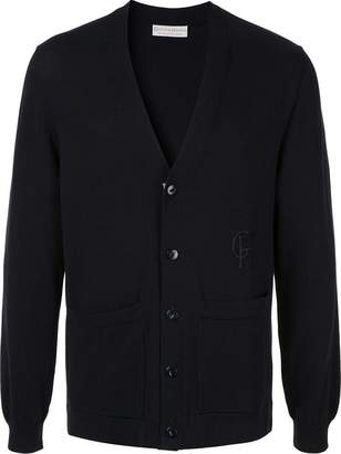 Gieves & Hawkes embroidered logo cardigan