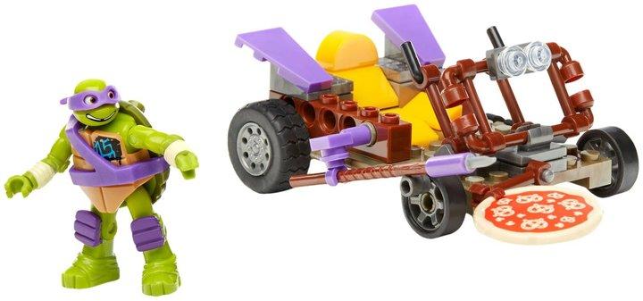 Mega Bloks Teenage Mutant Ninja Turtles Donatello Pizza Kart Slasher Ninja Racer Vehicle