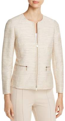 Lafayette 148 New York Kerrington Textured Zip Jacket
