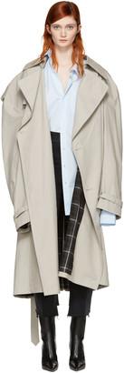 Vetements Grey Mackintosh Edition Oversized Trench Coat $4,210 thestylecure.com