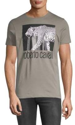 Roberto Cavalli Graphic Cotton Jersey Tee