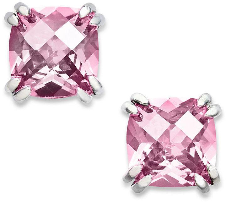 B. Brilliant Sterling Silver Earrings, Light Pink Cubic Zirconia Stud Earrings (4 ct. t.w.)