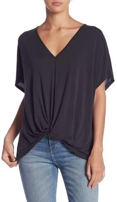 Lush V-Neck Gathered Front Tee